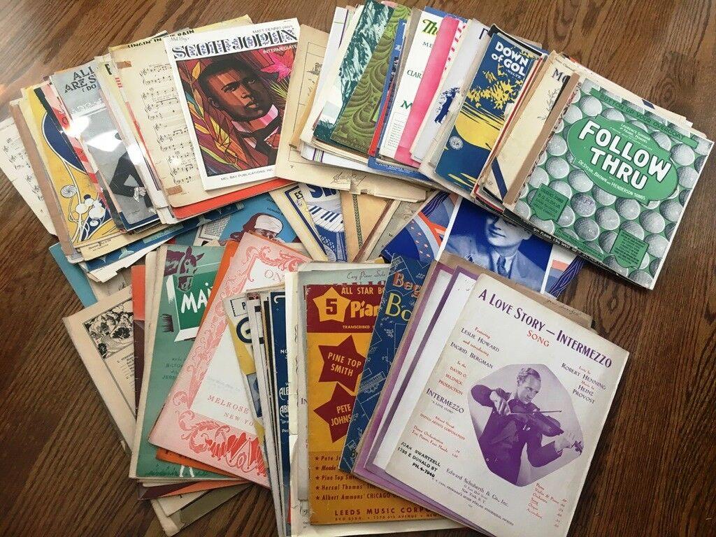 Vintage Sheet Music - Lot of over 130 Sheets