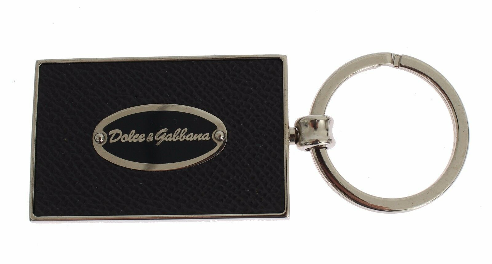 NWT $360 DOLCE /& GABBANA Gold Brass Yellow Leather Crystal Finder Chain Keyring