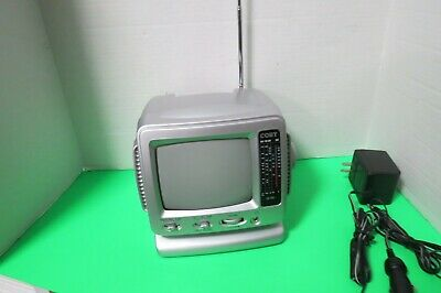 Coby 2003 5 Inch Black & White Portable TV AM FM Radio CX-TV1 TV Needs Work  716829970010   eBay