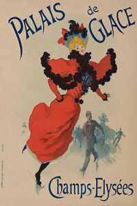 Original-Vintage-Poster-J-Cheret-Palais-de-Glace-PARIS-circa-1893