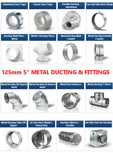Metal-5-inch-Ducting-Pipe-Ventilation-Extractor-Fan-fittings-for-5-dia-125mm