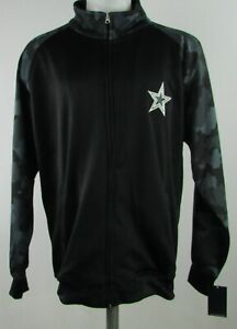 Dallas-Cowboys-Authentic-NFL-Men-039-s-Black-Full-Zip-Jacket
