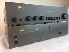 NAD STEREO PREAMPLIFIER 1020 AND STEREO POWER AMPLIFIER 2140 *SERVICED*