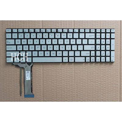 NEW for ASUS GL552V GL552VL GL552VW GL552VX GL552JX Keyboard silver Backlit US