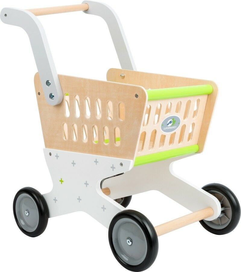 Einkaufswagen  Trend  aus Holz für Kinder Kaufladenzubehör
