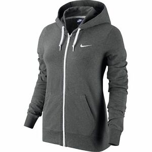 Details about NEW WOMEN S NIKE SOLID JERSEY FULL-ZIP HOODIE SWEATSHIRT!!!  IN GRAY CHARCOAL!!! 2a20a332ec