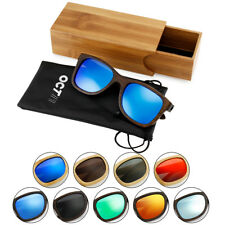Vintage Men Women Bamboo Sunglasses Polarized Wooden frame glasses Wood case