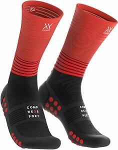 Compressport-Unisex-Mid-Compression-Socks-Black-Red