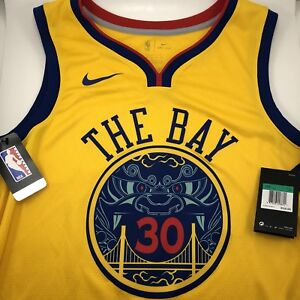 info for 1d22e 99068 Details about Nike Stephen Curry 30 City Edition Golden State Warriors The  Bay Size XL