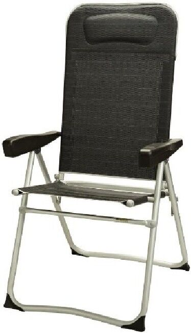 Camping Westfield ALU Chaise Pliante Chaise de camping chaise Como Fishbone Anthracite