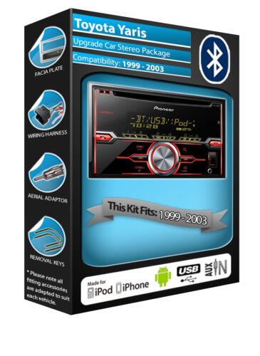 Toyota Yaris reproductor de CD Bluetooth Manos Libres Kit USB AUX estéreo para auto Pioneer en