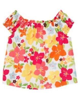 NWT Gymboree Girls Aloha Sunshine Floral Print Top Size 12-18 M 2T /& 3T