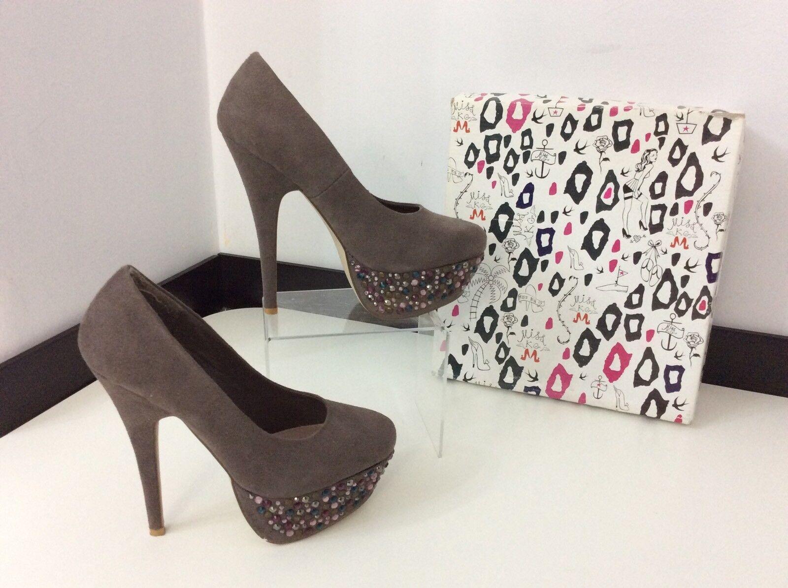 Miss Kurt Geiger, KG Court chaussures, Uk 6 Eu39, Taupe, Platform, Vgc