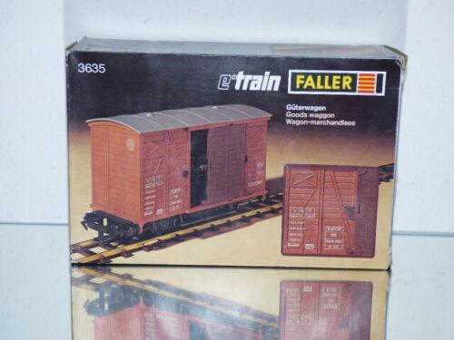 Faller e-Train-traccia 0-3635-carro merci Marrone-OVP