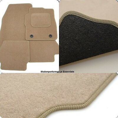 Perfect Fit Beige Carpet Car Mats for Jaguar S Type Mk2 (01-04) Auto - Heel Pad