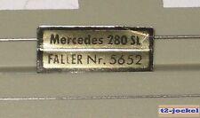 Faller AMS Originale AMS Targa Mercedes 280 SL per Box veicolo