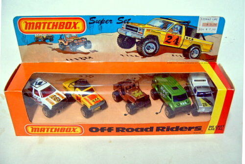 MATCHBOX SUPERFAST  off road riders  Giftset USA 1981
