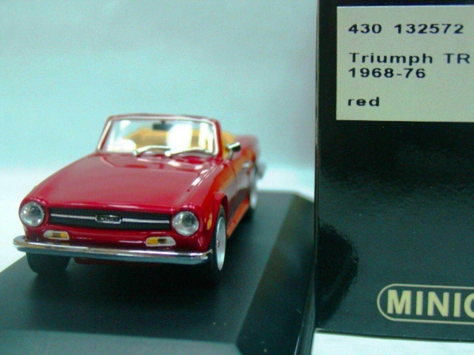 Wow extrêmement rare TRIUMPH TR6 par Karmann 2.5 L 1968 Rouge 1 43 Minichamps-MGB