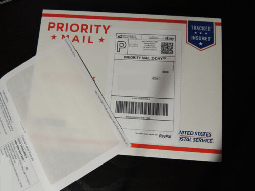 100 Click N Ship LABELS with Tear Off RECEIPT USA MADE Print Postage at Home