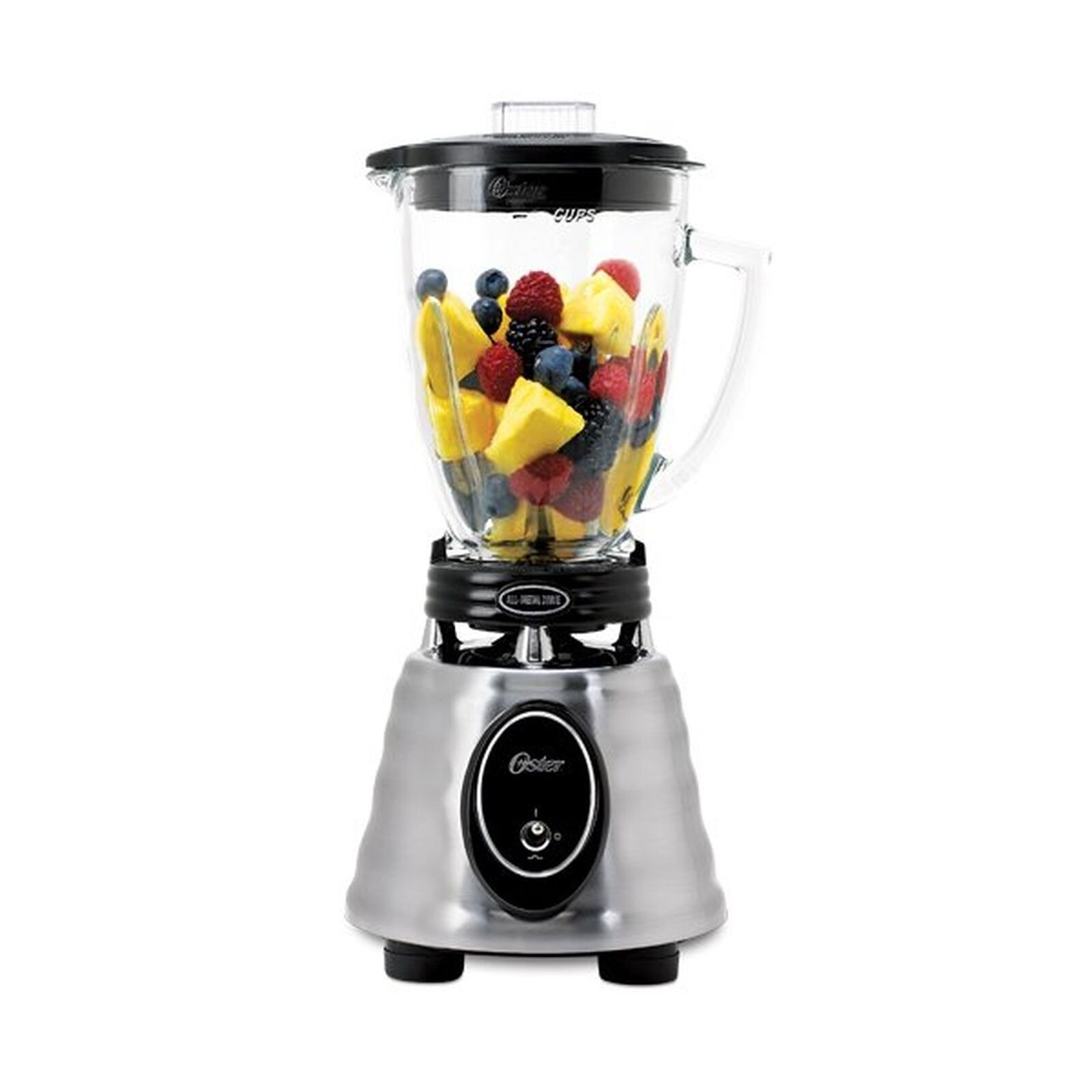 Oster BPCT02-BA0-000 6-Cup Glass Jar 2-Speed Toggle Beehive Blender, Brushed ...