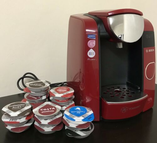 TASSIMO by Bosch Style TAS4503GB Automatic Coffee Machine Red. Great Condition