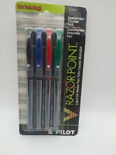 Pilot 11006 V Razor Point Extra Fine Liquid Ink Markers 4 Pack Assorted Colors