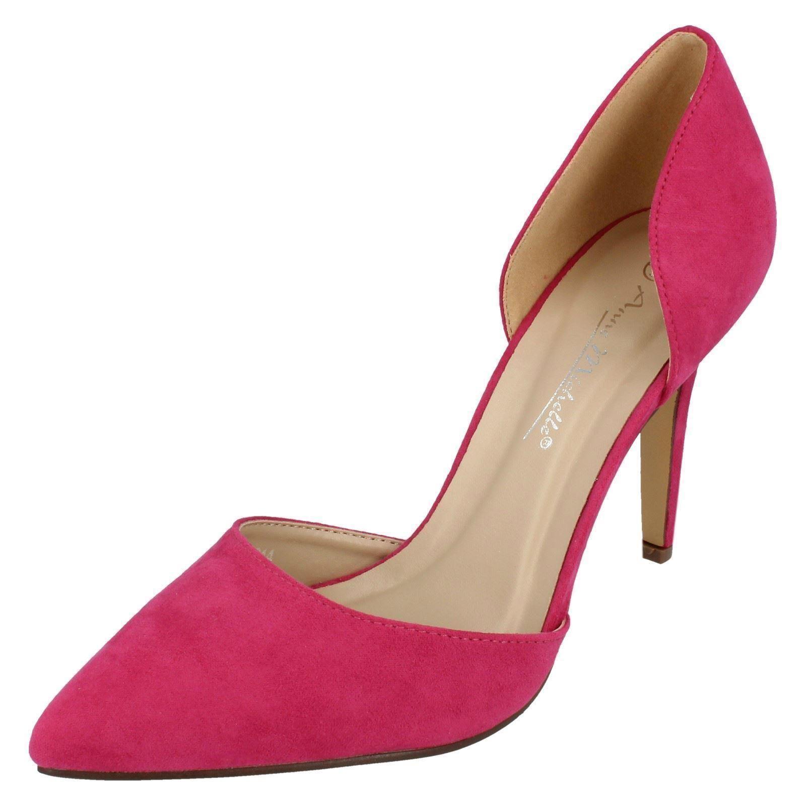 Anne Michelle F9914 Ladies 8 Fuchsia/Microfibre Court Shoes to 8 Ladies (R1B) e6a2e6