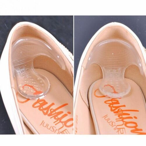 Foot Cushion Pad Insoles 1Pair Back Grips Heel Pad Shoe Liner Silicone Insole