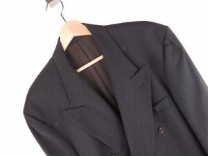 NV287-Hugo-Boss-Vintage-Chaqueta-Original-Lana-Super-100-Gris-Talla-54-44