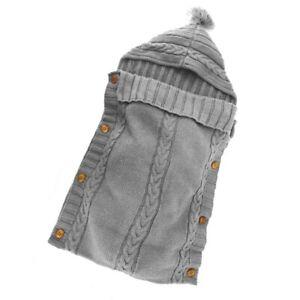 Newborn-Baby-Wrap-Swaddle-Blanket-Knit-Sleeping-Bag-Sleep-Sack-Stroller-Wra-T5K6