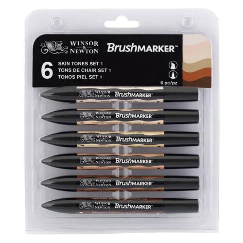 Winsor /& Newton Pennello Marker-Set di 6 tonalità di pelle