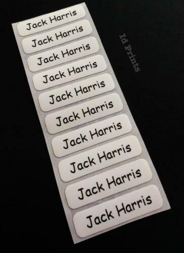 10 Printed Iron On Name Labels Personalised School Clothes Tags For Uniform Care