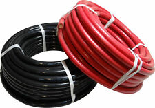 LOT DE 2 CABLE DE BATTERIE SOUPLE NOIR ET ROUGE Ø 10 mm2 72A