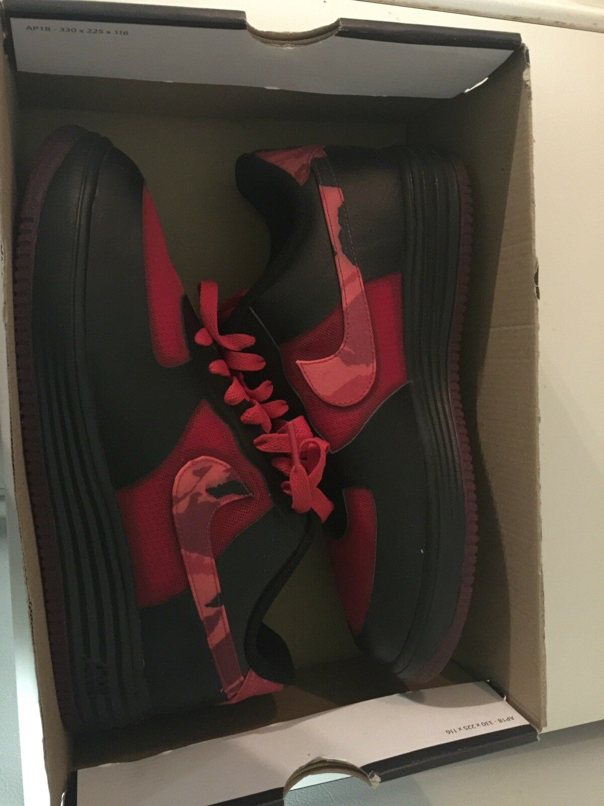 Nike Lunar Force 1 LTHR Air Force Fuse-Size8.5 hyper red/Noble Red-Black Rgehyp