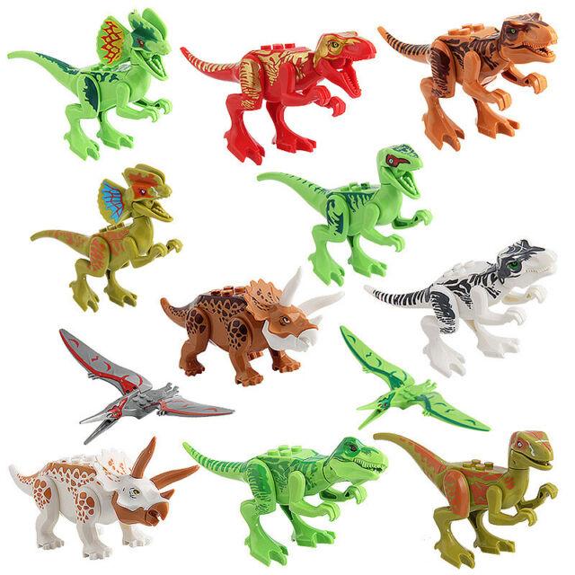 6Pcs Large Assorted Dinosaurs Toy Plastic Figures Simulation Model Dinosaur EL