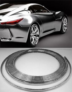 micro chrome trim molding strip interior car styling 4mm wide universal ebay. Black Bedroom Furniture Sets. Home Design Ideas