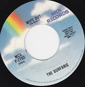 """THE SURFARIS - Wipe Out  7"""" 45"""