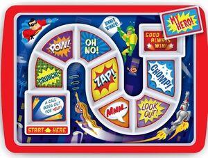 Fred-Hero-Dinner-Winner-Tray-Childrens-Tea-Dinner-Board-Game-Kids-Meal-Plate