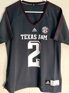 first rate bffc8 49a9b Details about Adidas Women's NCAA Jersey TEXAS A&M Aggies #2 JOHNNY MANZIEL  Grey sz XL
