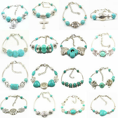Wholesale Lots 24 Tibetan Display Cuff Bracelet Bead Adjust Bangle Charms