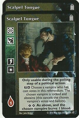 The Unmasking x1 Pact with Nephandi Black Chantry Deck VTES Jyhad