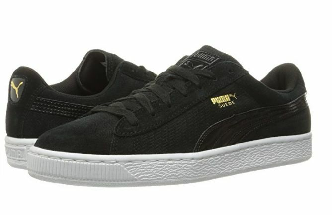 PUMA 36111101 Suede Remaster Emboss Wmn's (M) Black Suede Lifestyle shoes