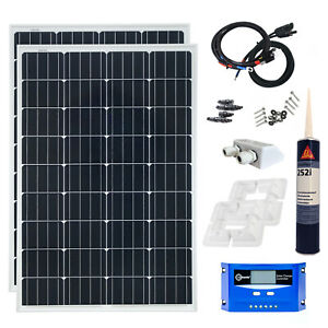 200 watt solaranlage wohnmobil caravan boot solarset modul montage 12 volt set ebay. Black Bedroom Furniture Sets. Home Design Ideas