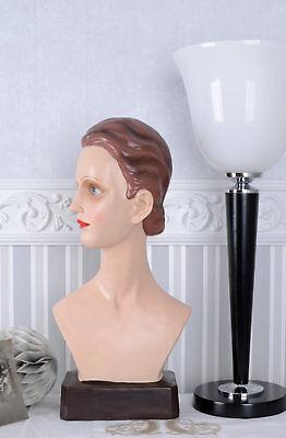 Modebüste En Arte Deco Cabeza De Mujer Escaparate Busto Modellkopf Como 1920 More Discounts Surprises Other
