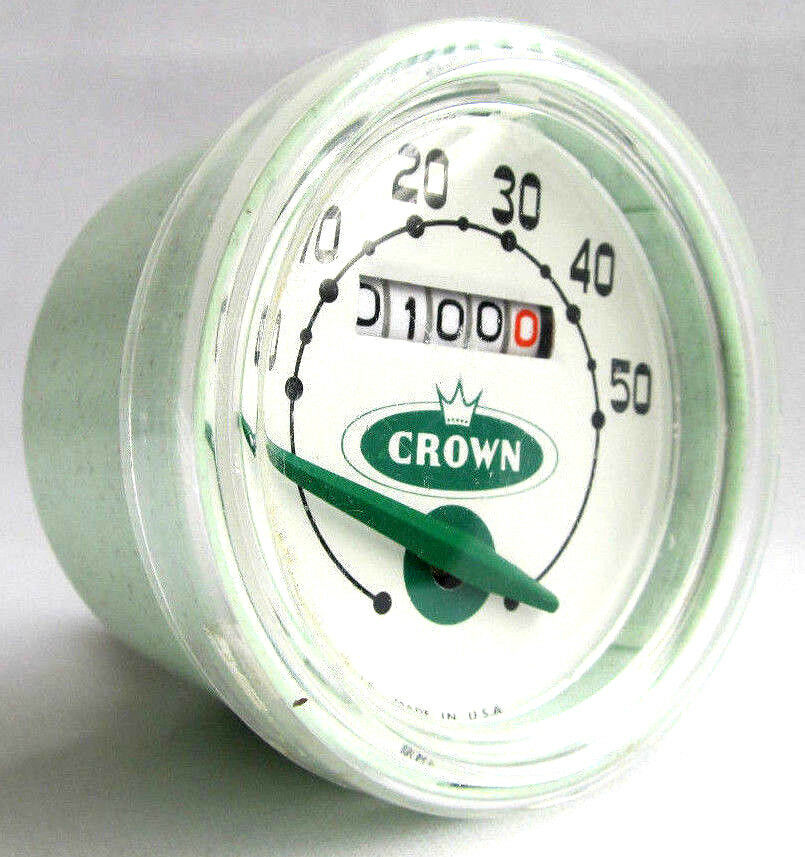Vtg Crown analog bike speedometer  Parts or display only Looks good though  supply quality product
