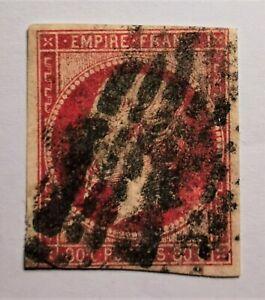 France :Empire non dentelé n° 17B a (TB-1200-2) Oblit. Los COTE 145 € avec Oblit