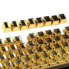 104 PBT Double Shot Backlit Gold Metal Color Keycap 4 all Mechanical Keyboard