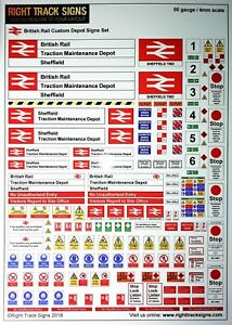 00-gauge-British-Rail-Depot-Signs-Set-Diesel-Depot-Hornby-Bachmann-OO-gauge