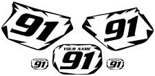 1991-2003 Yamaha DTR 125 Pre-Printed White Backgrounds Black Shock Series