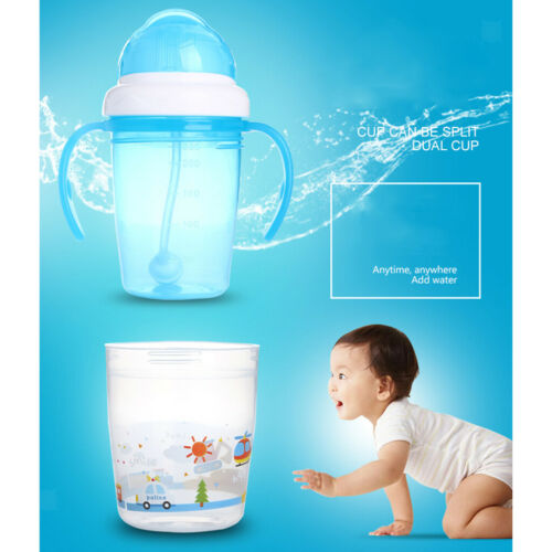 Portable Kid Baby Sippy Cup Training Straw Water Milk Learn Drinking Bottle 230